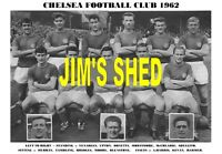 CHELSEA F.C TEAM PRINT 1962 (VENABLES/TAMBLING/BLUNSTONE/BONETTI)