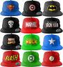 Marvel DC Comic Caps Logo Cap Superhelden Baseball Hip Hop Kappe Mütze Snapback