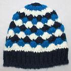 *NEW* LADIES/WOMENS WINTER-SNOW BEANIE/HAT/TOQUE - BLUE, NAVY & WHITE
