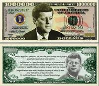 JFK KENNEDY BILLET 1 MILLION DOLLAR US! JOHN FITZGERALD Président Collection USA