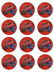 12 SPIDERMAN CUSTOM EDIBLE ICING CUPCAKE CUP CAKE DECORATION CAKE IMAGE TOPPERS