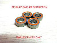 8x14 x4 Orange Rubber Seal Hybrid Ceramic Ball Bearing ABEC-7 SMR148C 2OS 4PCS