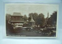 CHAPEL FIELD GARDENS NORWICH Norfolk Antique Real Photo Postcard 1920s Vintage*