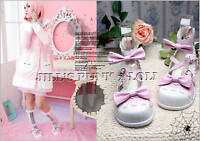 Lolita Baby Doll Pink Bow Scalloped 8.5/9 Heel shoes 40 2506 pink+white