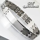 BRACCIALE UOMO in ACCIAIO Stainless Steel ST vbaa