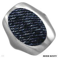 BRAND NEW MISS SIXTY STAINLESS STEEL BLUE DENIM RING - SIZE 7 - $102
