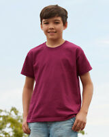 Fruit Of The loom Kids Plain Short Sleeve Crew Neck T Shirt  (21 Colours)