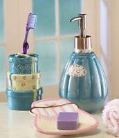 turquoise mosaic glass bathroom accessory set lotion pump toothbrush holder ebay. Black Bedroom Furniture Sets. Home Design Ideas