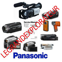Ultimate  Panasonic Camcorder Repair Service Manuals (220 PDFs manual s on  DVD)