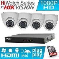 CCTV Kit - 4Ch Hikvision DVR Recorder & 4X 1080P Full HD Camera 20M IR LED P2P