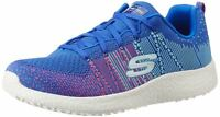 Skechers Burst Ellipse Blue Pink White Womens Trainers Shoes