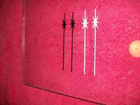Vintage Schwinn Bicycle Fork Dart Decals Black/White/Red/Gold