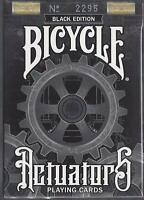 1 DECK Bicycle Actuators playing cards -- BLACK