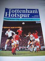 TOTTENHAM HOTSPUR v MANCHESTER CITY 1978/79 VOL71 #27 - DIV 1 FOOTBALL PROGRAMME
