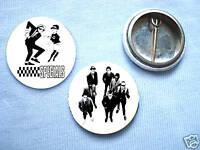 The Specials-Set Of 2  Badges Rude Boy Vespa Mod Ska