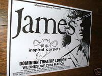 Classic James, Inspiral Carpets Gig Poster