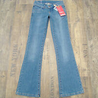 VERO MODA Number 3 Gr. 34 L34 wie NEU Damenjeans Stretch slim Bootcut Jeans blau