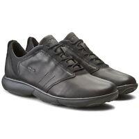 Shoes Geox Nebula U52D7A C9999 Sneakers Casual Moda Man Sport Leather Black