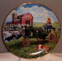 John Deere Tractor DAYS OF SPLENDOR Collector's Plate Danbury Mint #B2677