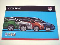Vauxhall . Excite Range . 2012 Models  Edition 1 . Sales Brochure