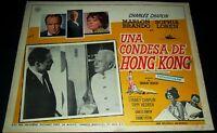 1967 A Countess from Hong Kong ORIGINAL LOBBY CARD Charlie Chaplin Marlon Brando