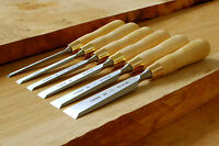 NAREX 8116 Cabinetmakers Chisels (Natural) - Set of 6