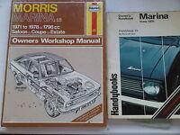 Morris Marina 1.8 SEALED Haynes Owners Workshop Manual + Free Handybooks