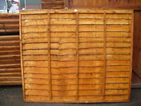 wooden fence Waney lap  panel/larch lap  lots in stock cheapest on ebay