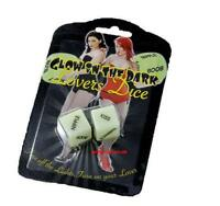 Glow in the dark Love Dice - Ideal for fun in the dark'