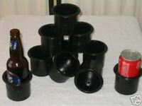 8 POKER TABLE CUP HOLDER DRINK HOLDERS  - EXTRA  DEEP - 70mm wide x  70mm deep