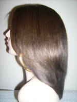 "INSTOCK! 12"" Celebrity Duo Yaki Straight Indian Remy Human Hair Full Lace Wig!"