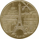 75007 PARIS 5 MONUMENTS TOUR EIFFEL MÉDAILLE MONNAIE DE PARIS 2012 MDP JETON