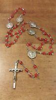 POPE JOHN PAUL II Silver-Tone Commemorative Rosary