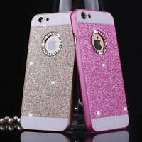 Luxury Bling Glitter Crystal Back Case Cover for iPhone  5S SE 5C 6 6S+ 7 7 Plus