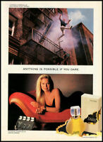 1991 glamour ad for Dare Perfume