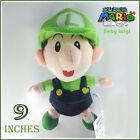 "Nintendo Super Mario Bros Plush Baby Luigi Soft Toy Stuffed Animal Doll Teddy 9"""