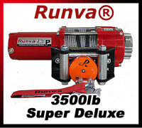 3500lb New Runva ATV UTV 12V Towing Recovery Electric Winch Super Deluxe Package