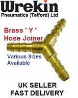 "Y Piece Brass Joiner 5/16"" (8mm) 3 Way Fuel Hose Connector"