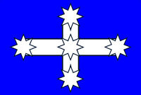 EUREKA FLAG   Size apr 100mm by 70 mm TOP QUALITY DECAL MADE IN AUSTRALI