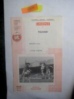 LEYTON ORIENT V FULHAM 3/4/1972  DIVISION 2 FOOTBALL PROGRAMME