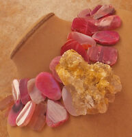 HONEY GOLD DRUZY GEODE PENDANT HOT PINK BERRY AGATE XL GEMS NECKLACE BIG JEWELRY
