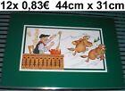12 x12 x Set da tavola Tovaglietta FORMAGGI VINO MARMOTTA platzdecken DIVERTENTE