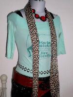 H&M DIVIDED CARMENSHIRT TOP RocKaBilly PRINT SHIRT BoHo Gr. 34 36 S NEUW.! TOP!!