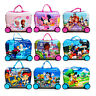 Disney Ride On Kids Luggage Suitcase Toy Box Child Trolley Hard PVC 34*46*22cm
