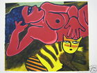 CORNEILLE GUILLAUME LITHOGRAPHIE ORIGINALE N/S CHAT JAUNE TIGRE