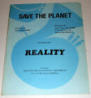 Partition vintage sheet music REALITY : Save the Planet * 70's