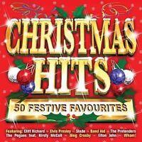 CHRISTMAS HITS CD 50 FESTIVE FAVORITES SLADE POGUES ETC,GREAT ALBUM the best