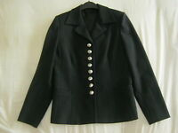 BLACK LINED CLASSIC WOMENS JACKET SIZE 8
