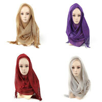 Ladies Women Girls Plain Maxi Head Scarf Shawl Hijab Sarong Wrap Cape Scarves