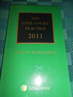 THE CIVIL COURT PRACTICE 2011 - AUGUST SUPPLEMENT - THE GREEN LAW BOOK